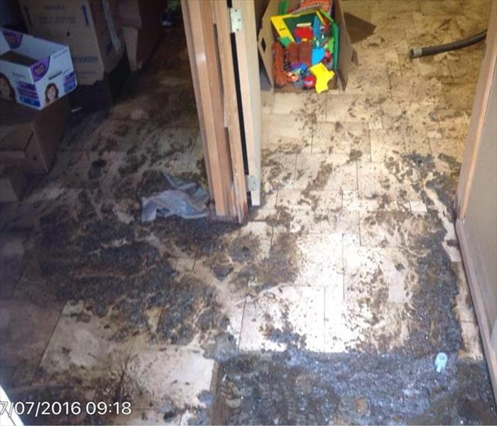Sewage loss in Hazelton, PA Before
